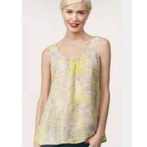 Cabi Whisper Tank Top 100% Silk Back Buttons